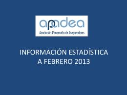INFORMACIÓN ESTADÍSTICA A OCTUBRE 2009