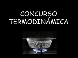 CONCURSO TERMODINÁMICA