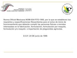 Norma Oficial Mexicana NOM-034-FITO