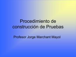 Procedimiento de construcción de Pruebas