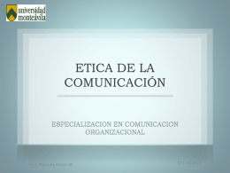 ETICA DE LA COMUNICACIÓN