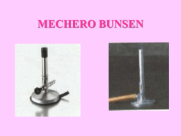 MECHERO BUNSEN - QUÍMICA