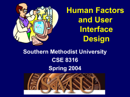 Designing User Interfaces Spring 1999