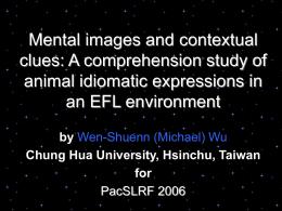 presentation at PacSLRF 2006