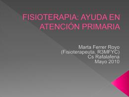 FISIOTERAPIA EN ATENCIÓN PRIMARIA