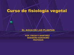 Curso de fisiología vegetal