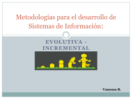 Metodologías para el desarrollo de Sistemas de