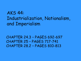 AKS 44: Industrialization, Nationalism, and