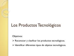 Los Productos Tecnológicos