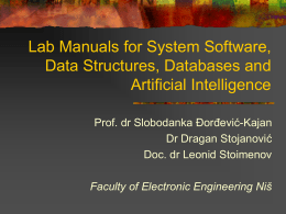 Lab Manual for System Software Operating systems