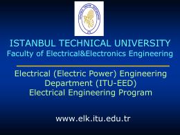Elektrik Mühendisliği Anabilim Dalı