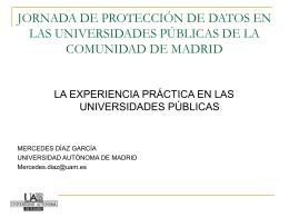 JORNADA DE PROTECCIÓN DE DATOS EN LAS