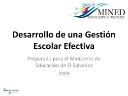 Desarrollo de una Gestión Escolar Efectiva