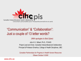 "Communication"" & ""Collaboration"": Just a couple of"