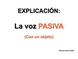 explicación pasiva con un objeto