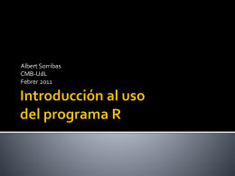 Introducción al uso del programa R