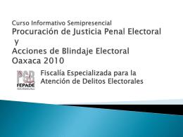 Curso Informativo Procuración de Justicia Penal
