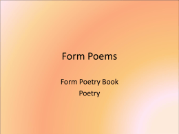 Form Poems