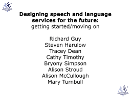 Designing SLT services for the future – getting