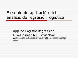 Ejemplo de aplicación del análisis de regresión