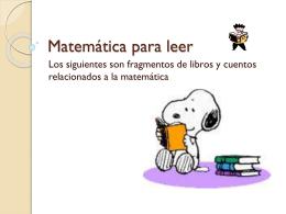 Matemática para leer