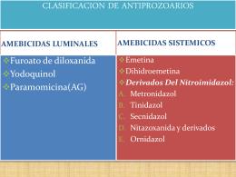 FÁRMACOS ANTIPARASITARIOS