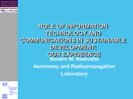 ROLE OF INFORMATION TECHNOLOGY AND COMMUNICATIONS
