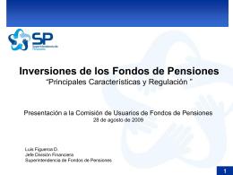 FSAP Recommendations - Subsecretaría de Previsión