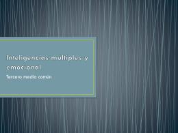 Inteligencias múltiples y emocional