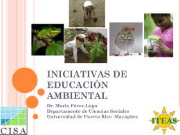 Iniciativas de Educación Ambiental