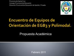 Encuentro de Equipos de Orientación de EGB3 y