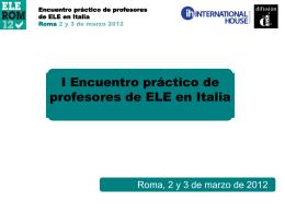 I Encuentro práctico de profesores de ELE en