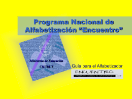 "Programa Nacional de Alfabetización "" Encuentro"""