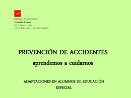 Prevención de accidentes - INTEF