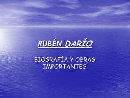 RUBÉN DARÍO - LenguaLiteraturaLarraona
