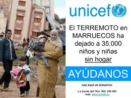 El TERREMOTO en MARRUECOS ha dejado a 35.000 niños