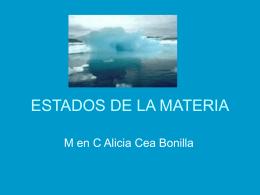 ESTADOS DE LA MATERIA - Departamento de Bioquímica