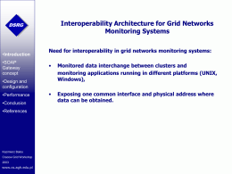 Interoperability Architecture for Grid Networks