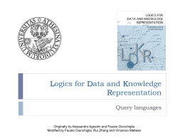 Logics for Data and Knowledge Representation -