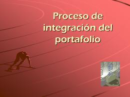 Proceso de conformación del portafolio