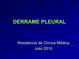 DERRAME PLEURAL - Blog de la Residencia de Clínica