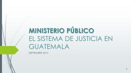 MINISTERIO PÚBLICO SEPTIEMBRE 2014