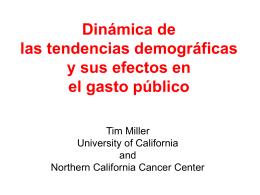 `Dinamica de las tendencias demográficas y sus
