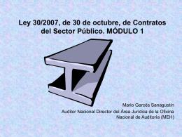 LEY CONTRATOS DEL SECTOR PÚBLICO