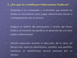 El Sector Público como Fideicomitente