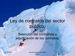 Ley de contratos del sector público.