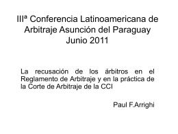 IIIª Conferencia Latinoamericana de Arbitraje