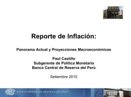 Reporte de Inflación