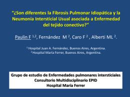 Son diferentes la Fibrosis Pulmonar Idiopática y