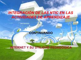 APLICACIÓN DE LOS RECURSOS DE LA TECNOLOGIA DE LA